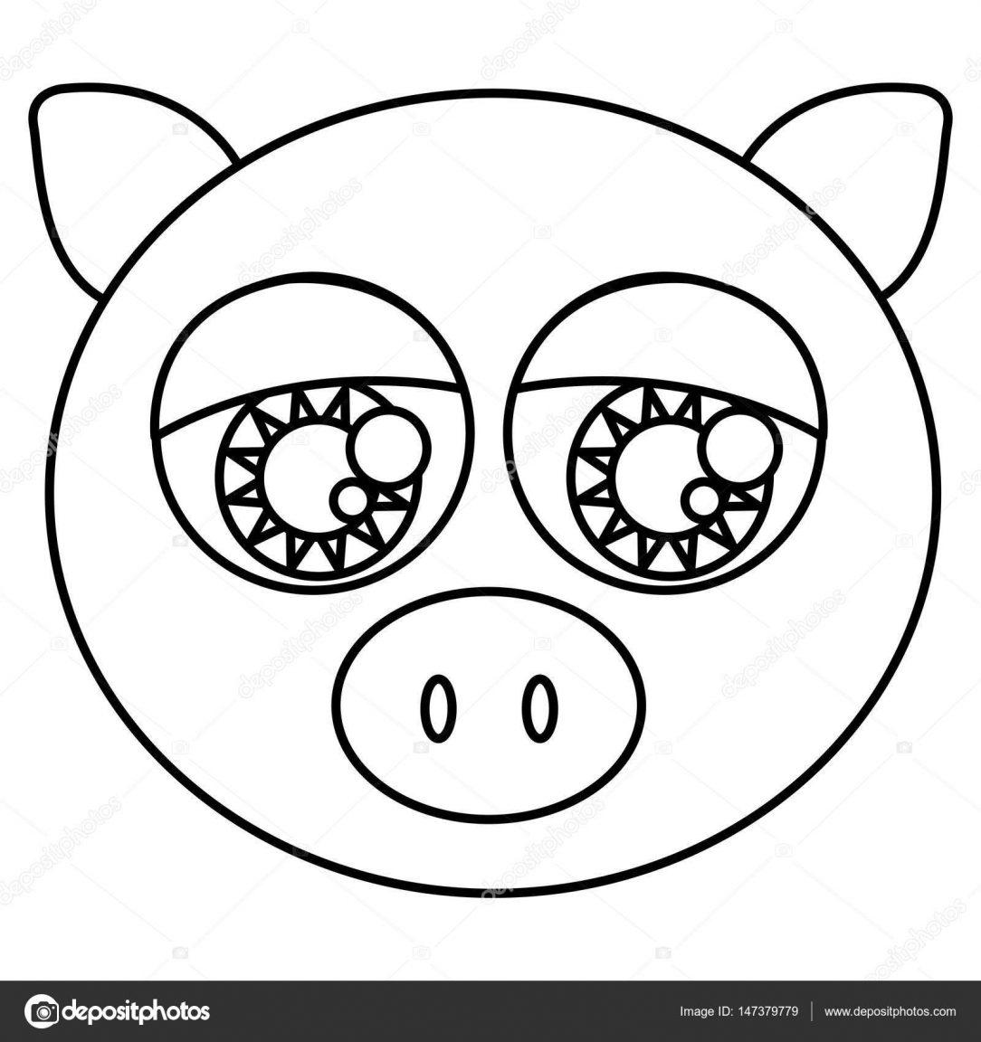 1084x1152 How To Draw A Cute Pig Face Do You Cartoon Step