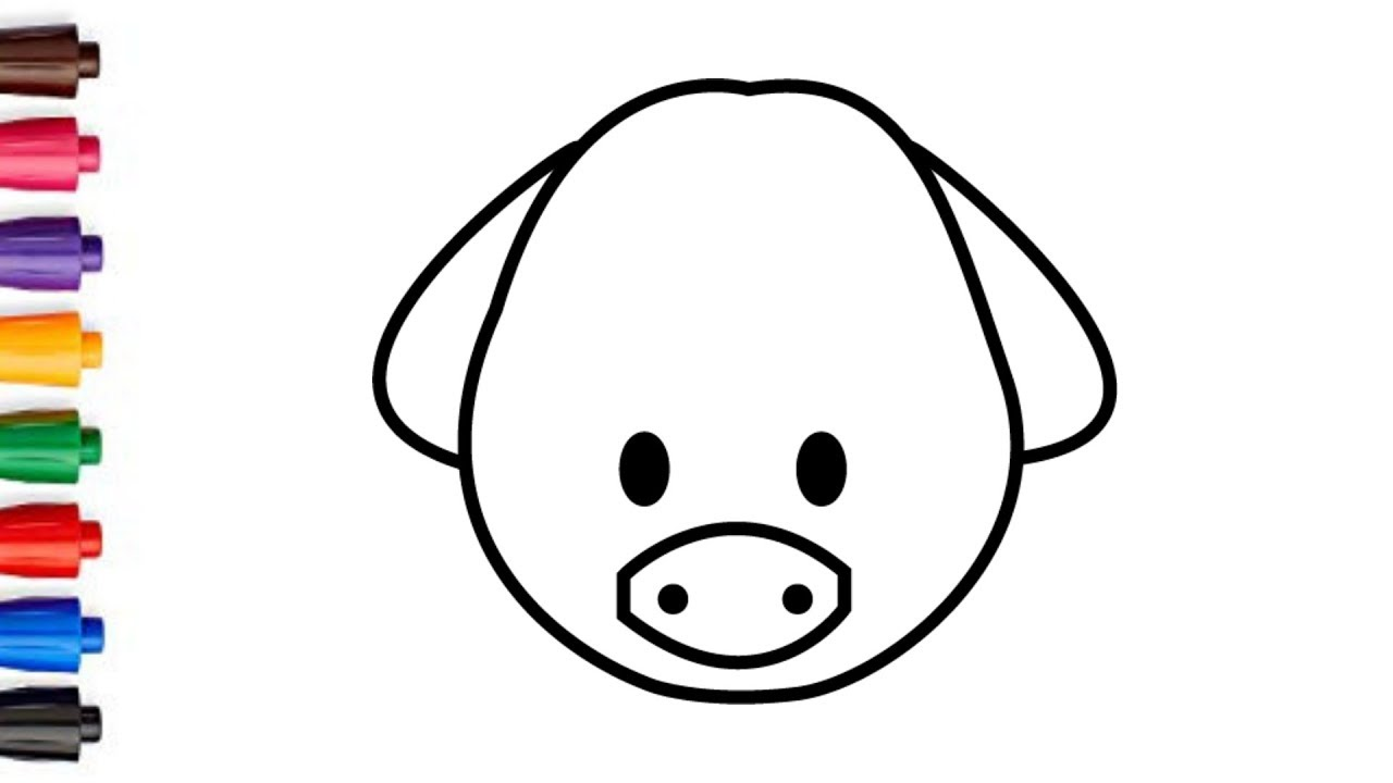 1280x720 How To Draw A Cute Pig Face