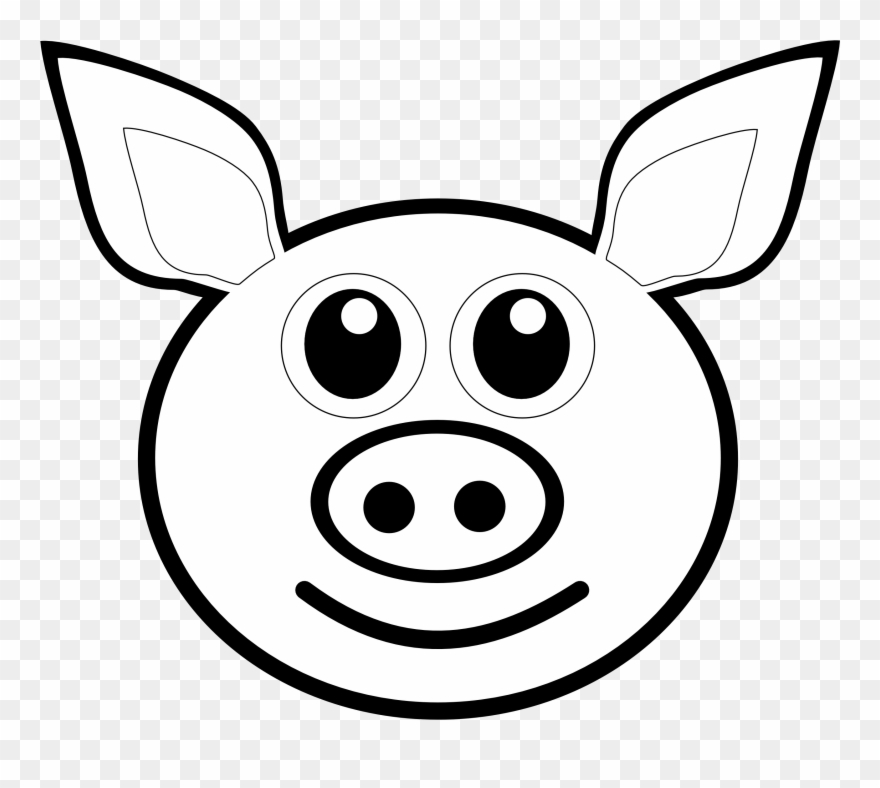 880x788 Pig Face Clipart Free Images