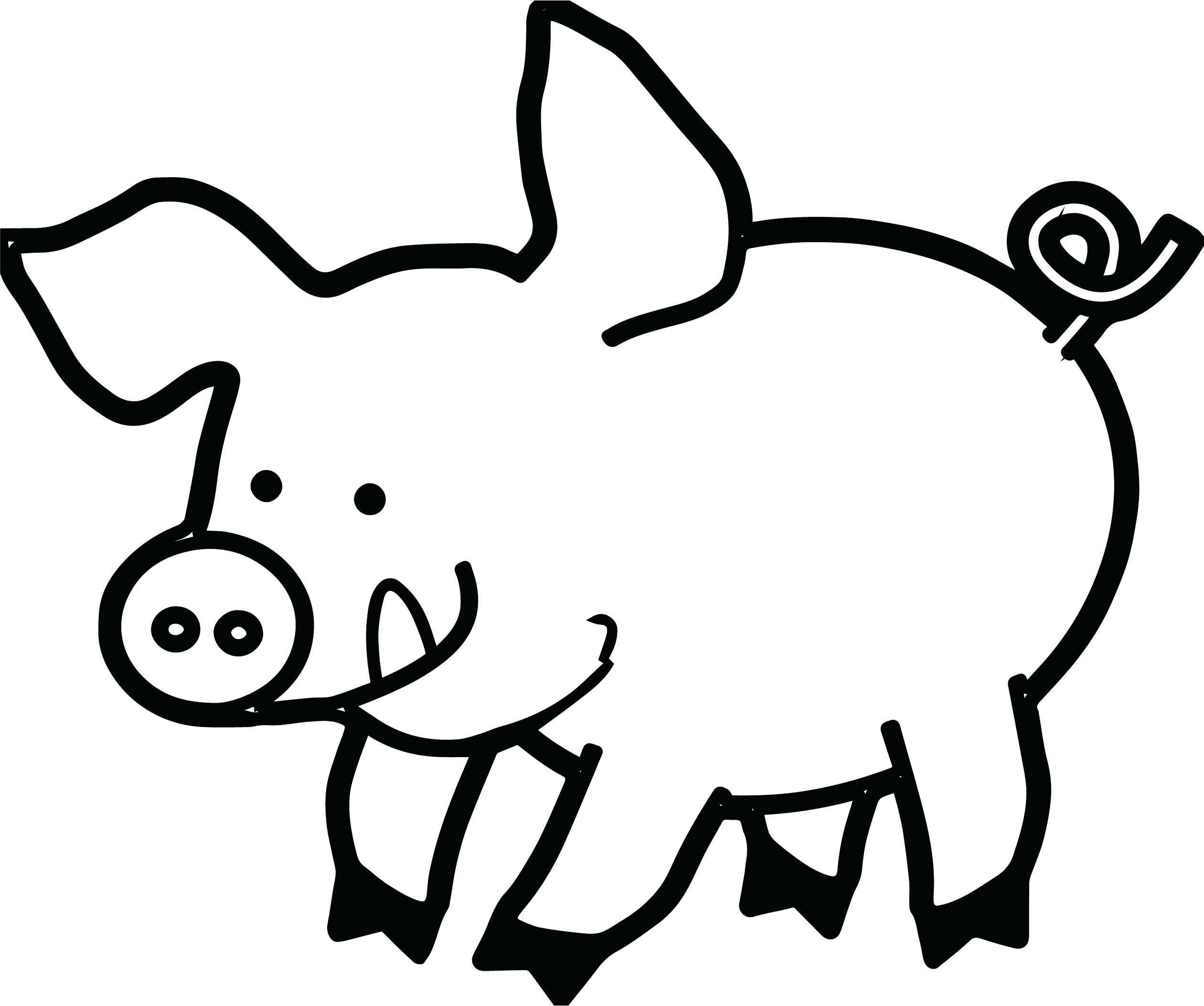 2521x2106 Pig Face Drawing Clipart Black And White Printables