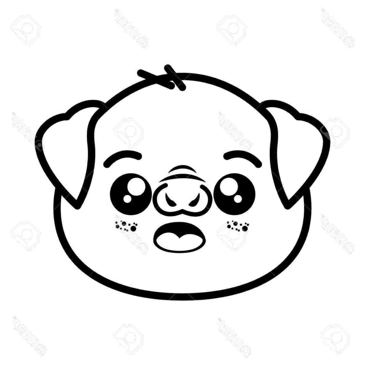 1232x1232 How To Draw A Cute Pig Face