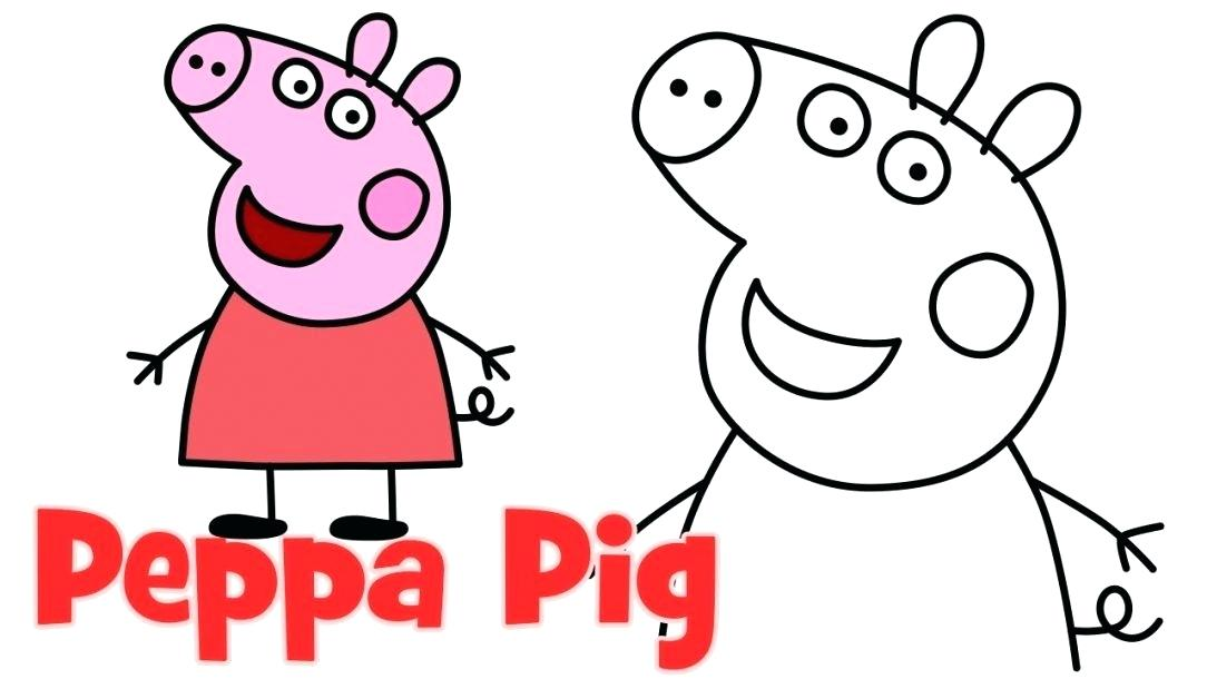 1084x610 How To Draw A Pig Face Running