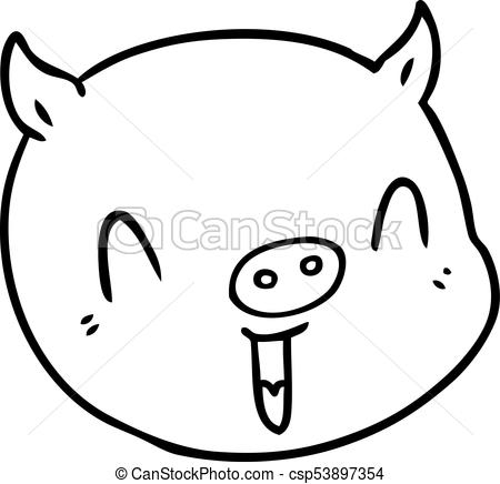 450x436 Cartoon Pig Face Clipart Vector
