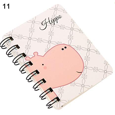 466x466 buyanputra small notebook,cute cartoon animal spiral notebook coil