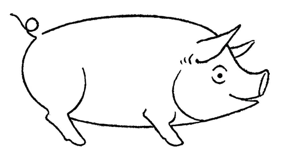 1200x624 Drawing A Pig Line Drawing Of Pig Face