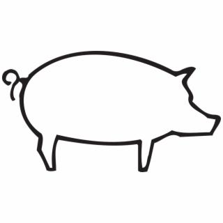 320x320 Hd Pig Outline Png Transparent Background