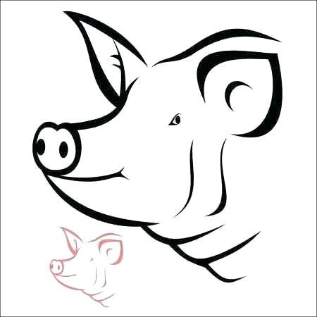 450x450 Pig Head Drawing Pig Head Illustration Drawing Engraving Ink Line
