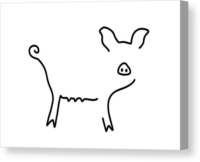 661x534 Pig Piglet Make A Mess Canvas Print Canvas Art