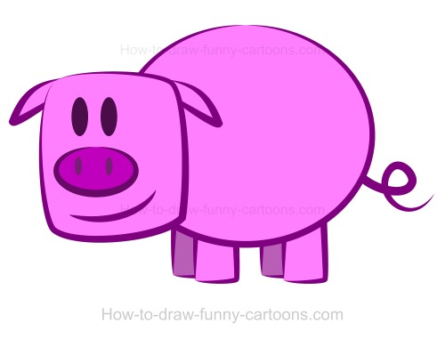 500x381 Drawing A Pig