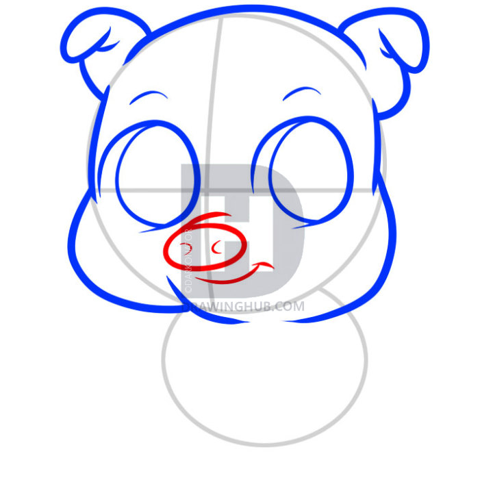 720x720 How To Draw A Pig For Kids, Step