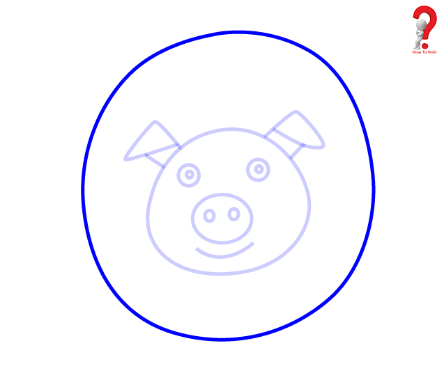 637x536 How To Draw A Pig For Kids Complete Guide How To Wiki