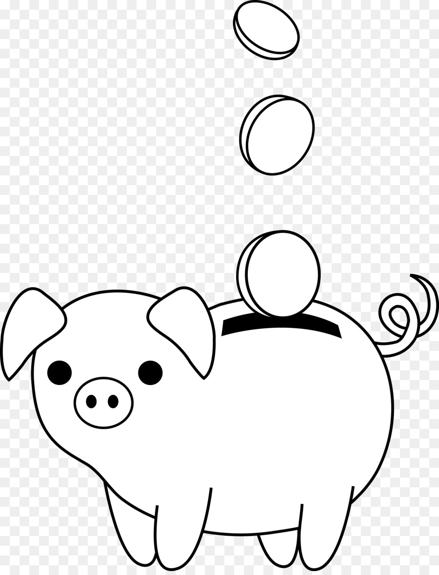 900x1180 Piggy Drawing Line For Free Download