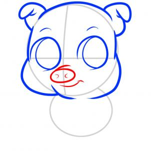 302x302 How To Draw How To Draw A Pig For Kids