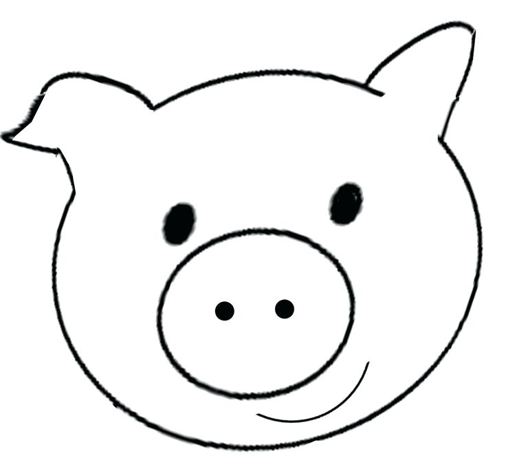 736x666 Pig Face Drawing Cartoon Pig Face Peppa Pig Face Drawing Lali