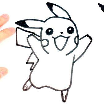 Pikachu Drawing Easy