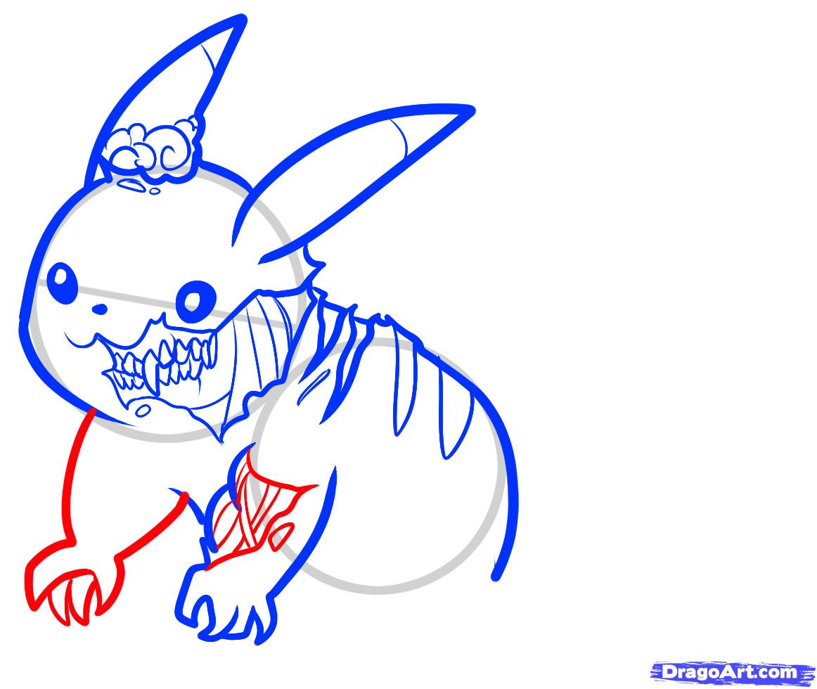 1162x980 step how to draw zombie pikachu zombie pikachu