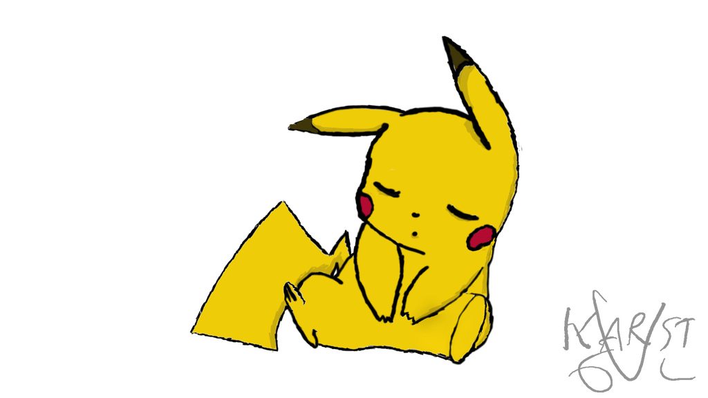 1024x576 Sleepy Drawing Pikachu Transparent Png Clipart Free Download