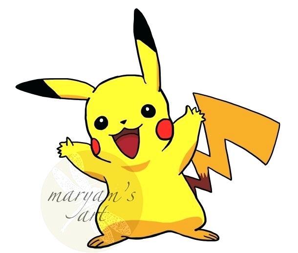 610x518 Simple Pikachu Drawing