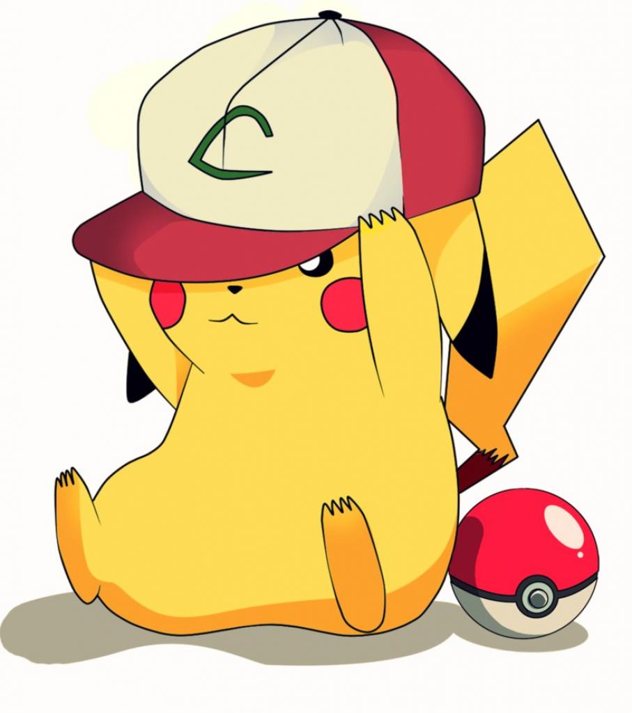 907x1024 Cute Pikachu Clipart