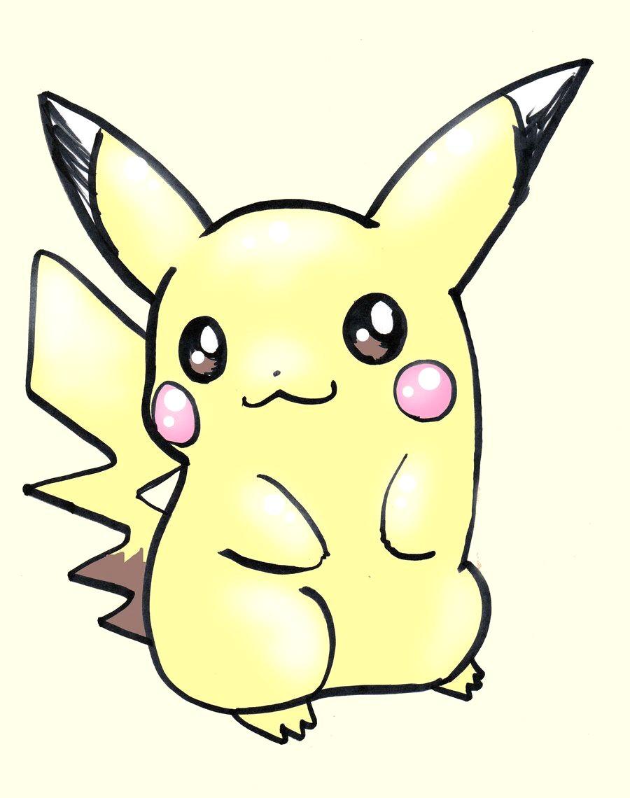900x1140 Cute Pikachu Drawing