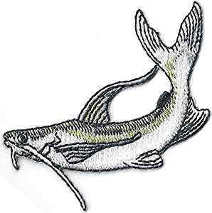 298x300 Realistic Catfish Game Trophy Fish Embroidery Fishing