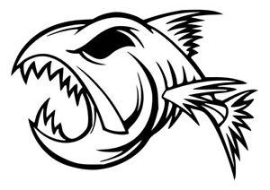 300x212 Funny Ugly Angry Fish Sticker Fishing Tackle Box Carp Pike Coarse