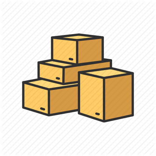 512x512 Box, Drawing, Yellow, Transparent Png Image Clipart Free Download