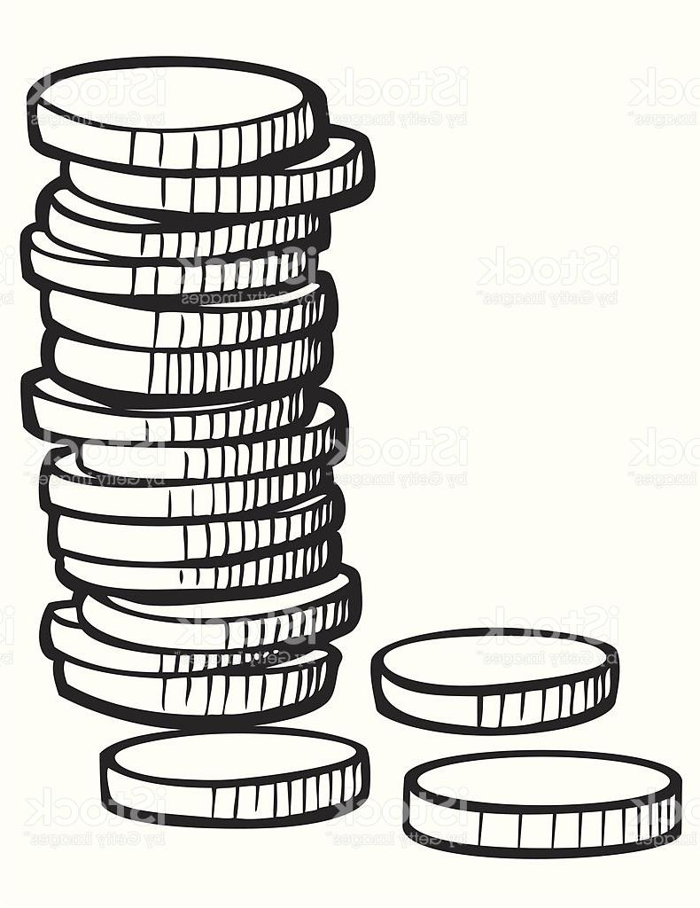 790x1024 Coins Drawing Coin Pile For Free Download