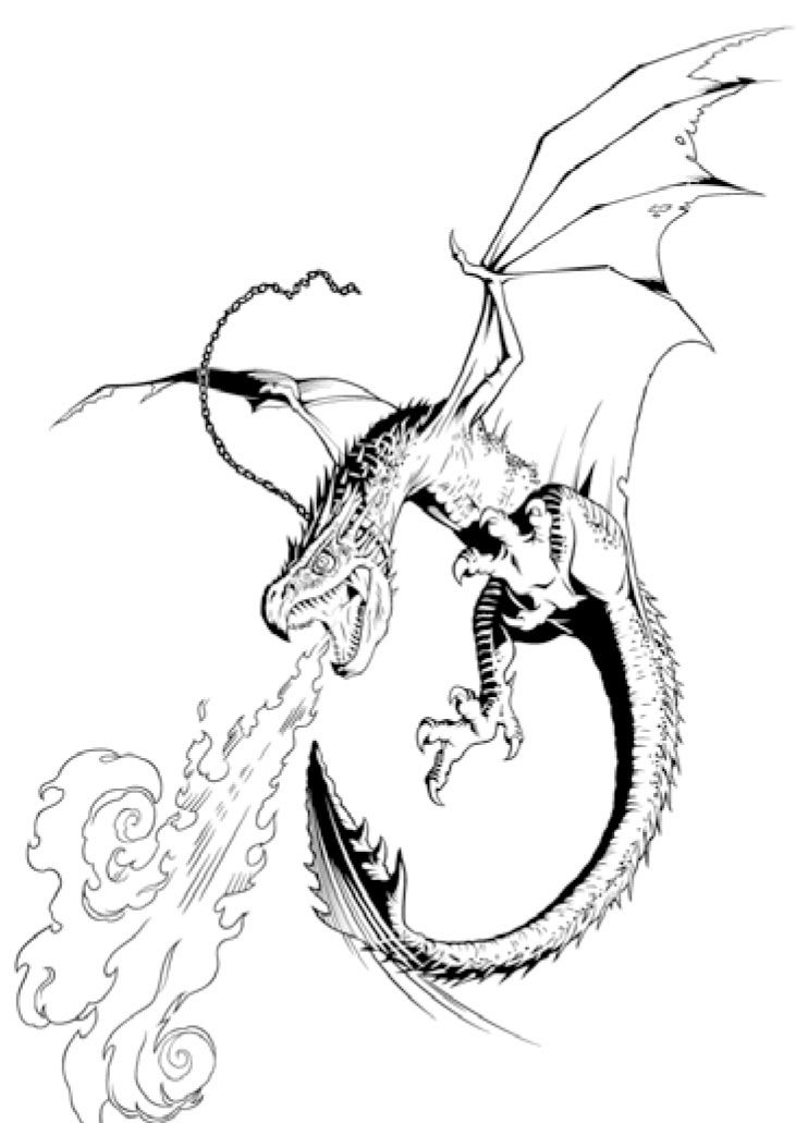 731x1031 Smaug Drawing Pile Gold For Free Download