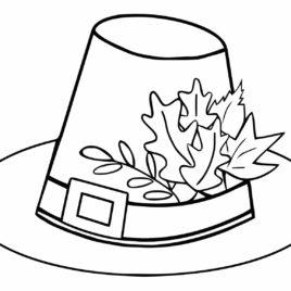 268x268 best photos of pilgrim hat clip art coloring pages pilgrim hat