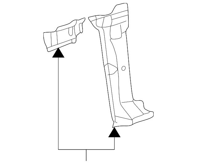 640x534 Volkswagen Pillar Reinforced Volkswagen