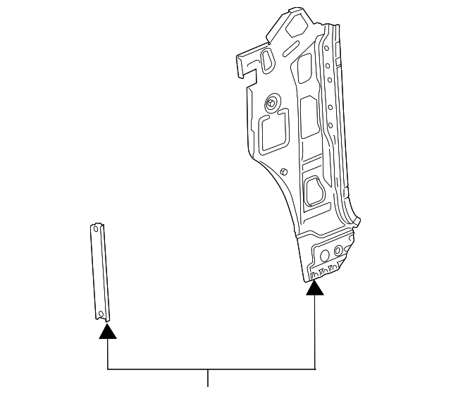 640x559 Gm Inner Hinge Pillar Britain Chevrolet Parts