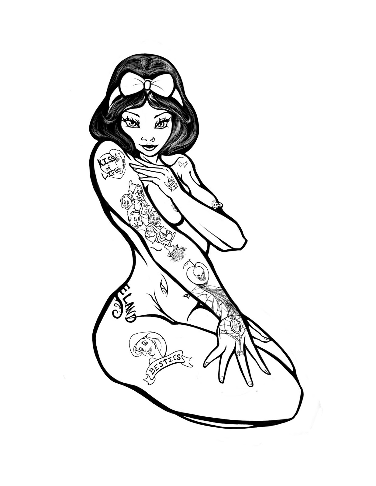 Pin Up Girl Drawings