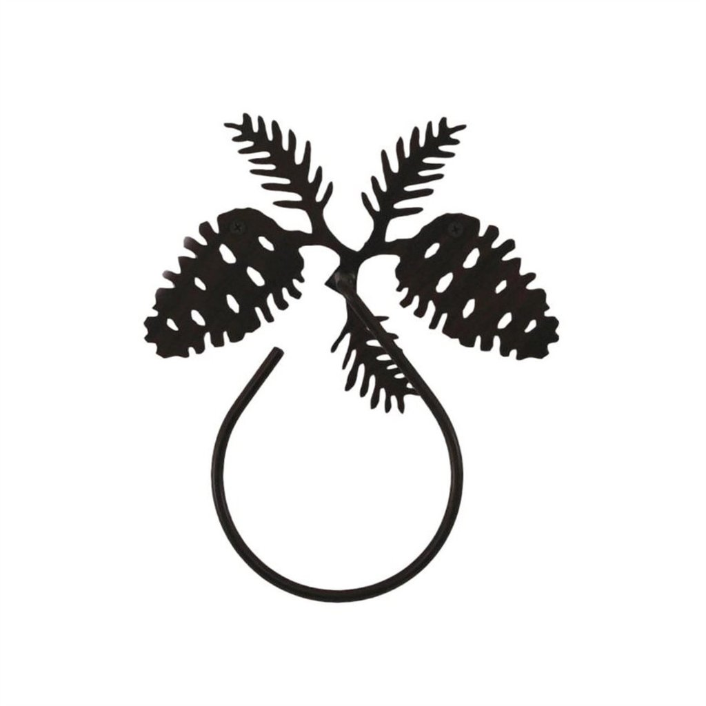 1024x1024 Iron Pine Cone Towel Ring Lakecabin Depot