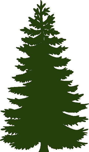 348x598 green tree siluety, monokhrom tree silhouette, silhouette clip