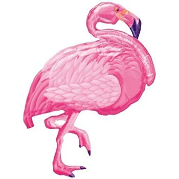350x350 xl pink flamingo super shape mylar foil balloon