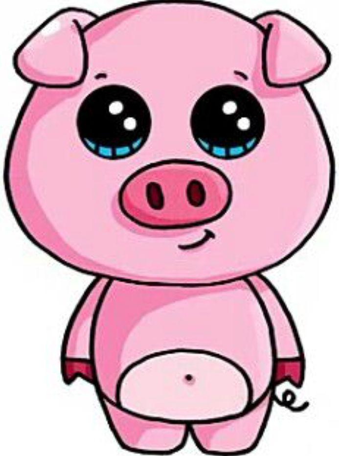 693x932 Pink Pig Niedliche Zeichnungen, Kawaii