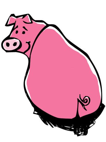 368x494 Pink Pig Melissa Evans