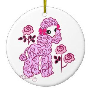 307x307 cute pink poodle ornaments keepsake ornaments zazzle