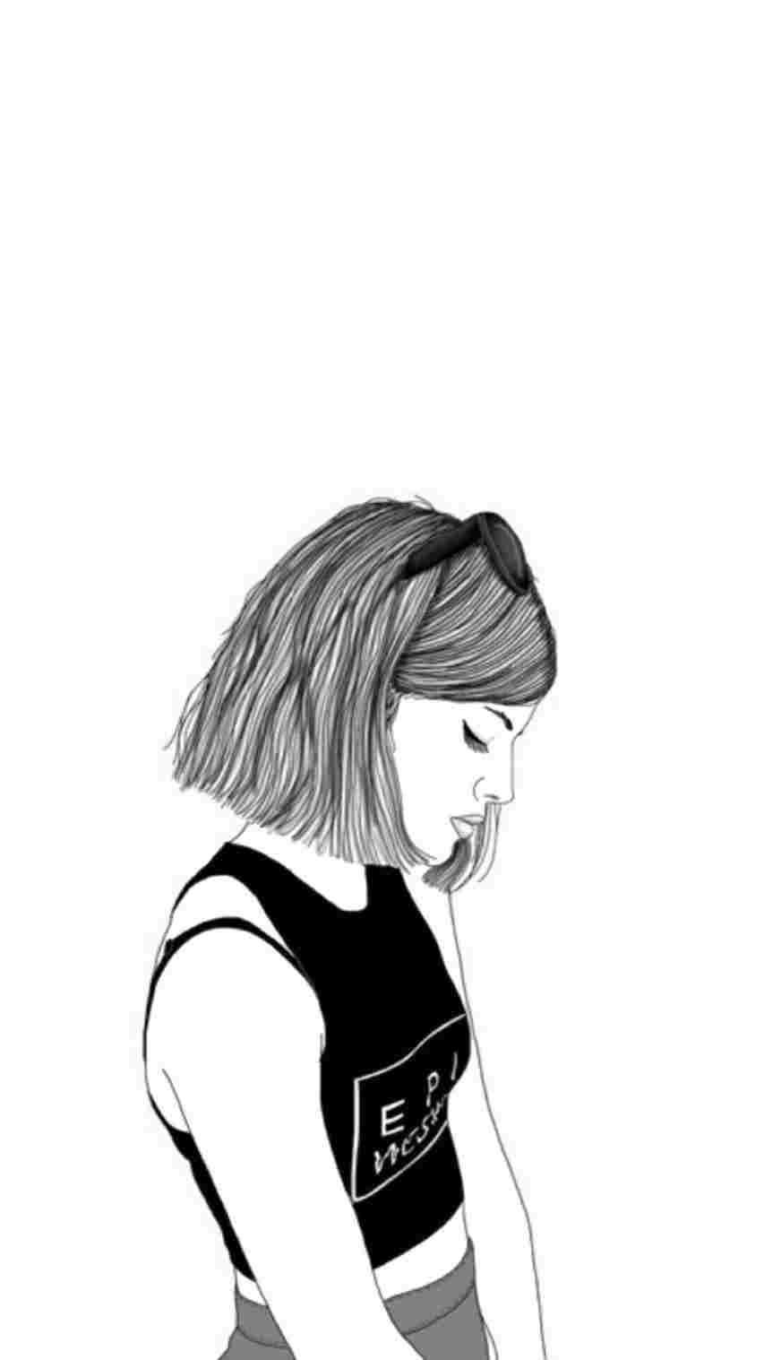 Pinterest girl drawing free download best pinterest girl