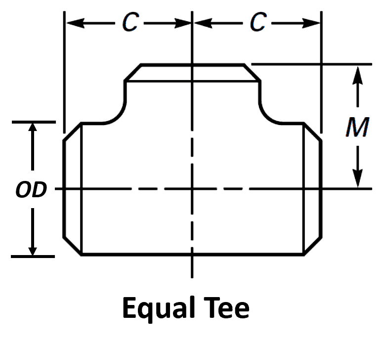 775x702 Pipe Tee Dimensions