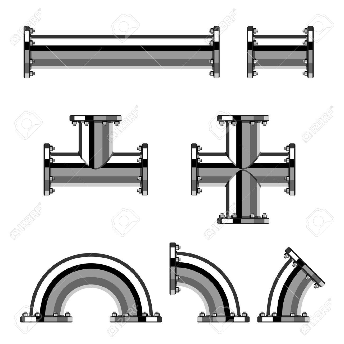 1300x1300 Pipes Drawing Free Download