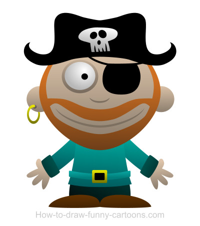 400x452 Drawing A Pirate Cartoon