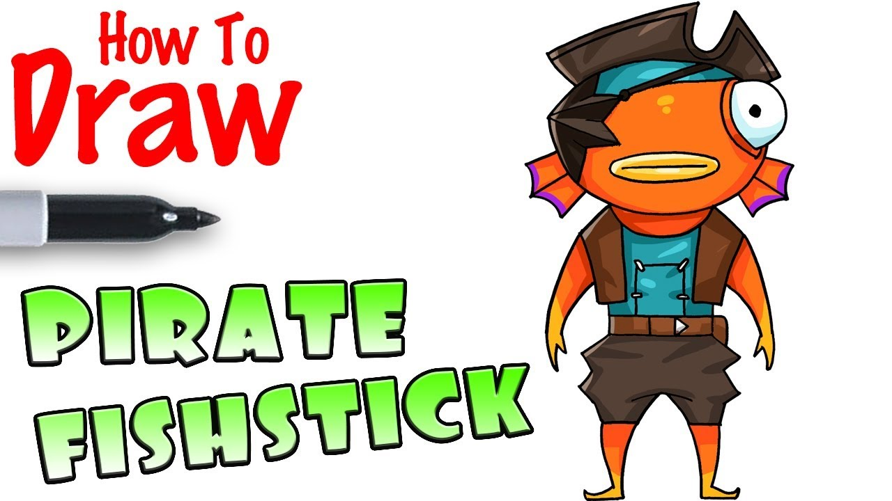 1280x720 How To Draw Pirate Fishstick Fortnite