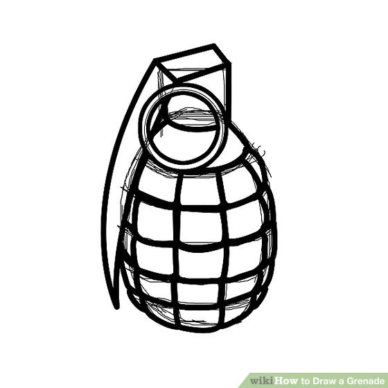 560x560 How To Draw A Grenade Steps