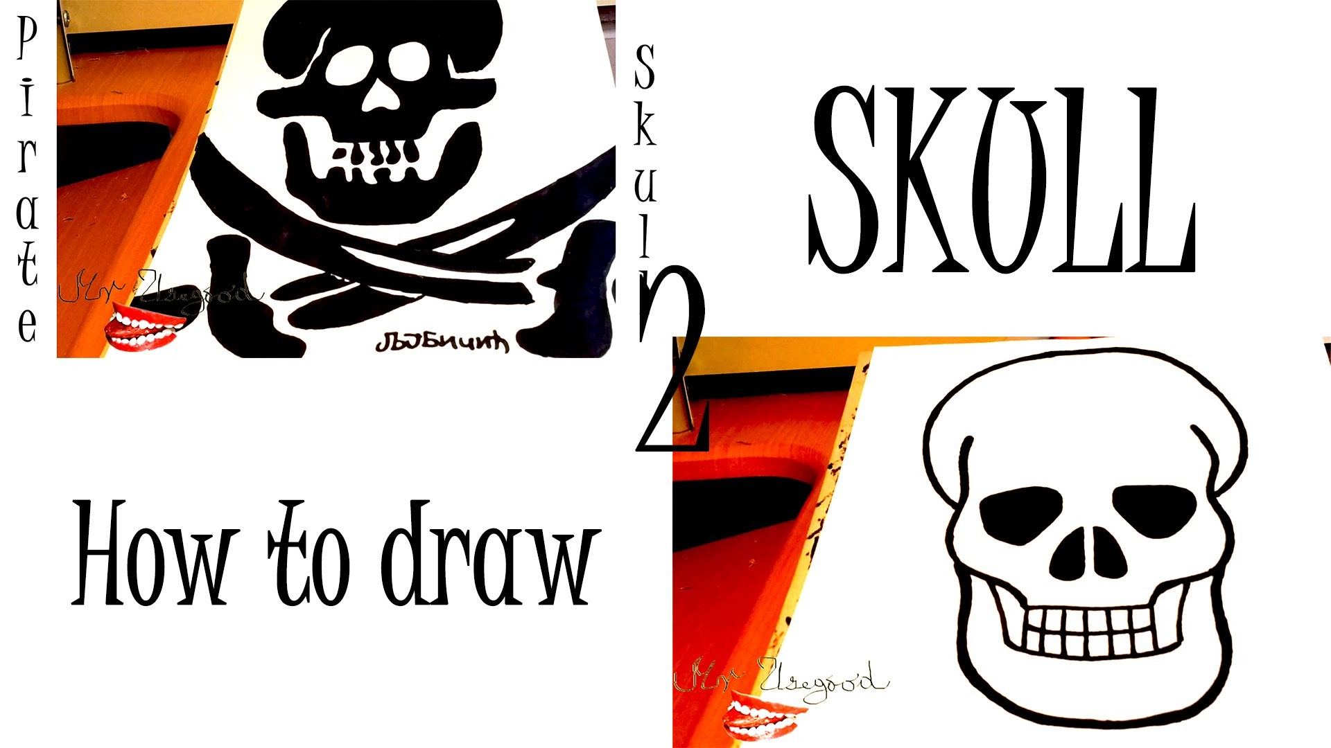 1920x1080 How To Draw A Skull And A Pirate Skull Easy For Beginners And Kids