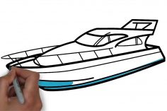 236x157 Speed Boat Drawing Easy Viking Pirate Step And Beautiful