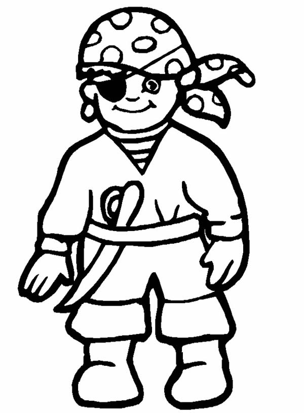600x815 Drawing Little Pirate Coloring Pages Bulk Color