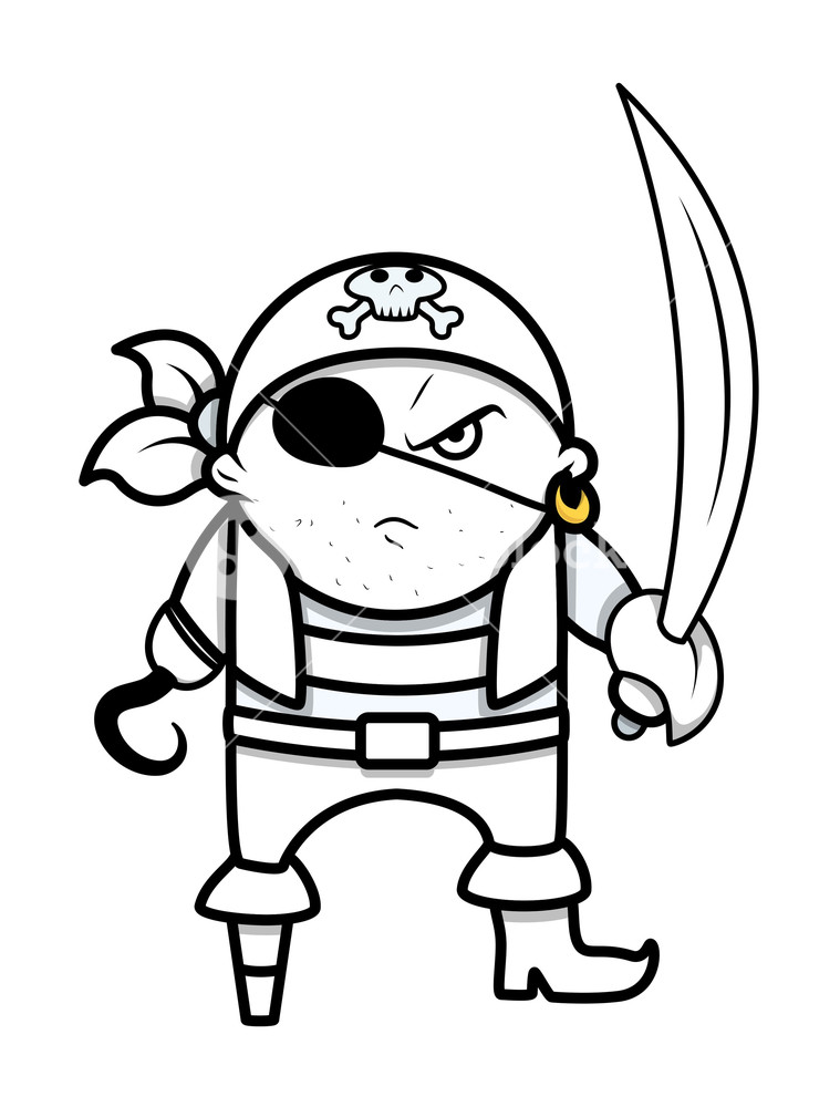 759x1000 Funny Angry Cute Pirate Captain