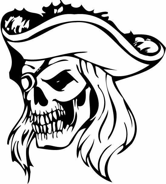 548x606 Pirate Skull Vinyl Decal Papercut Pirate Hats, Pirate Skull